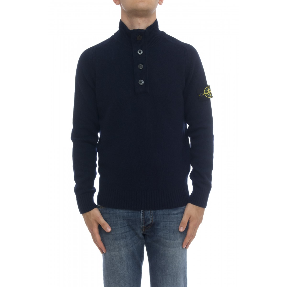 Maglia uomo - 532A3 maglia con zip e 4 bottoni
