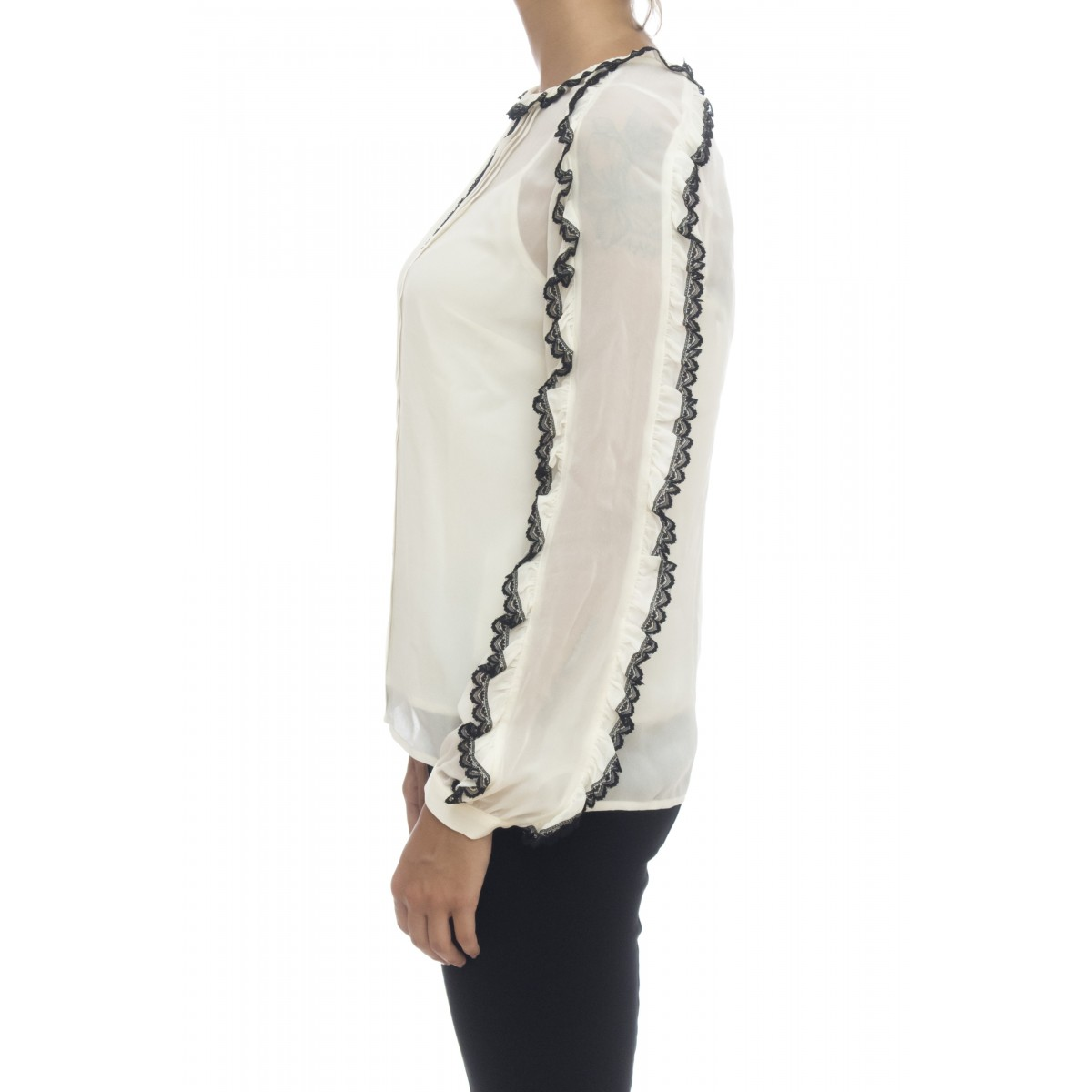 Camicia donna - 2571 camicia viscosa con pizzo