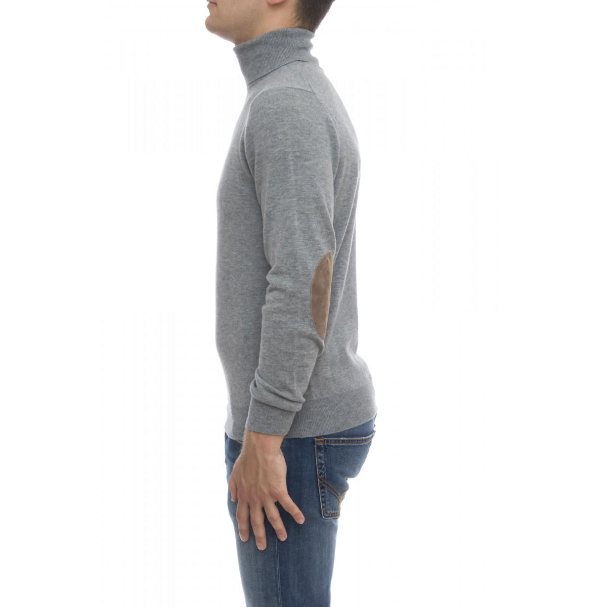 Maglia uomo - 8008/05 collo alto con toppa lacantara