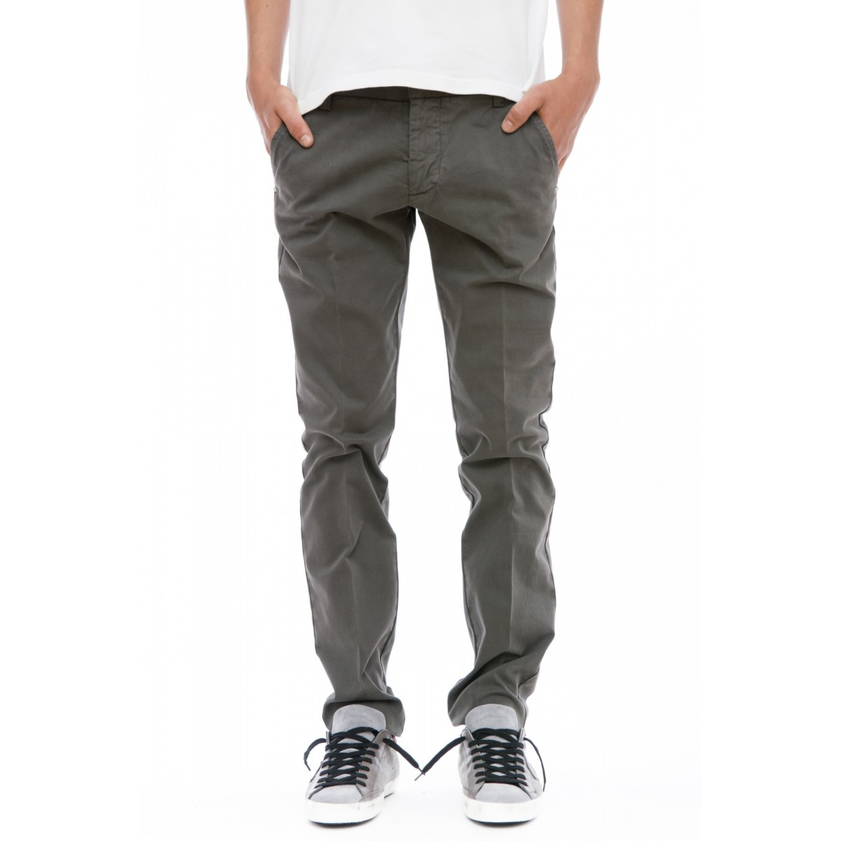 Pantalone uomo Entre amis - 8201/488l17 pantalone strech uomo gabardina lavata