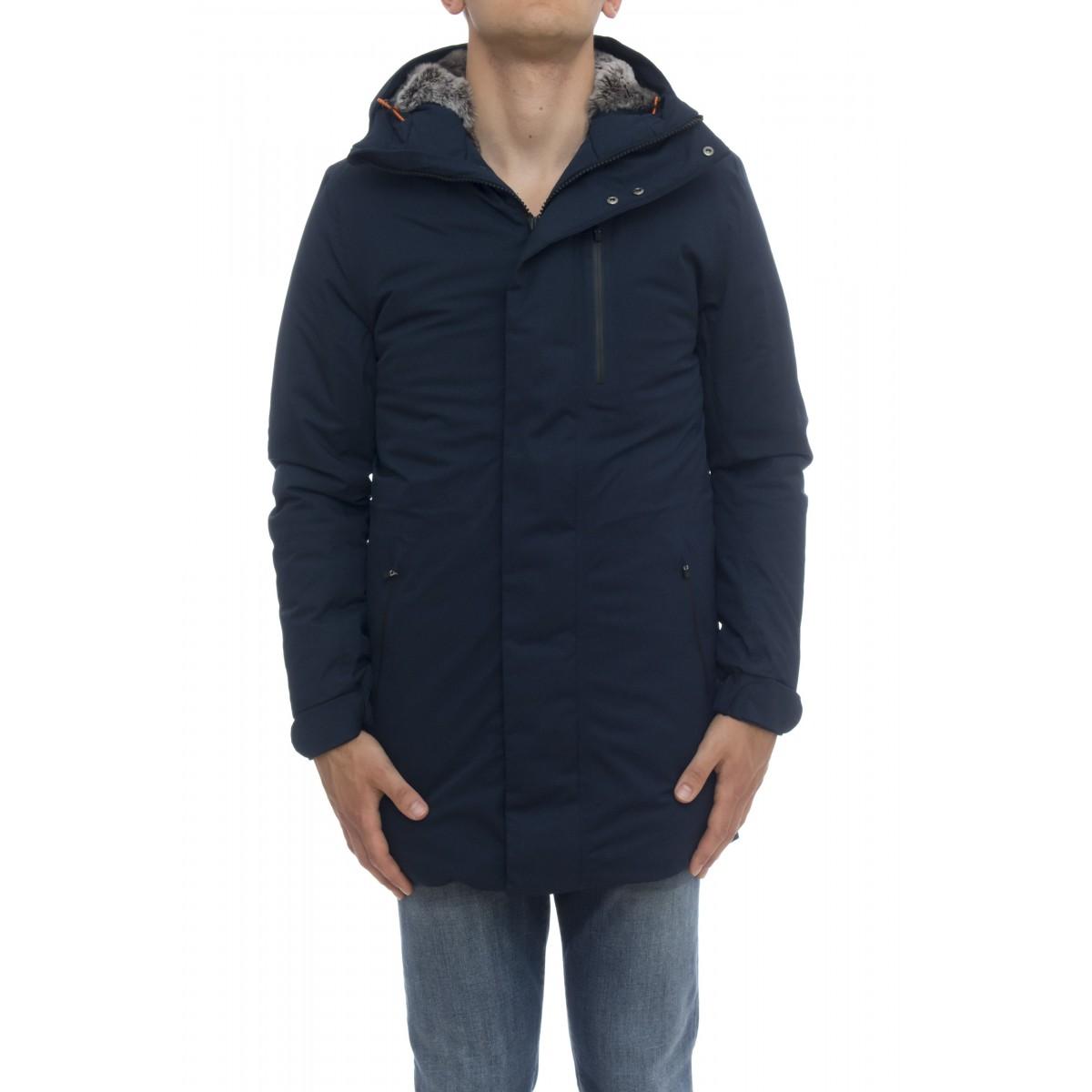 Piumino - D4344m town9 cappottino twill pelo effetto lana