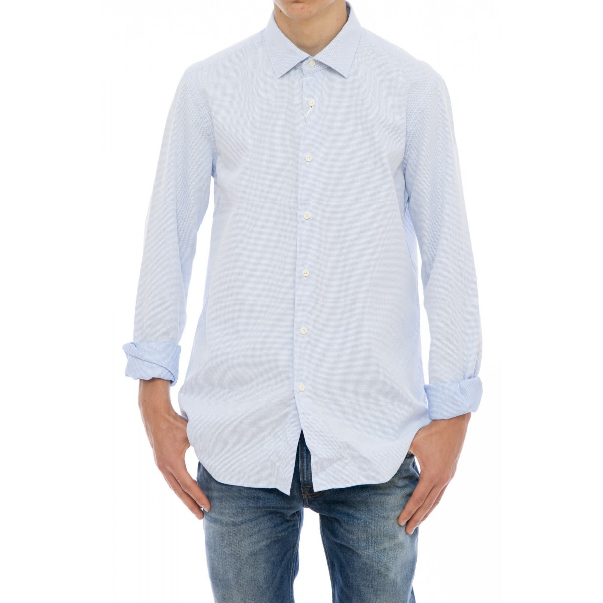 Camicia uomo Xacus - 719 71111 camicia taylor lavata