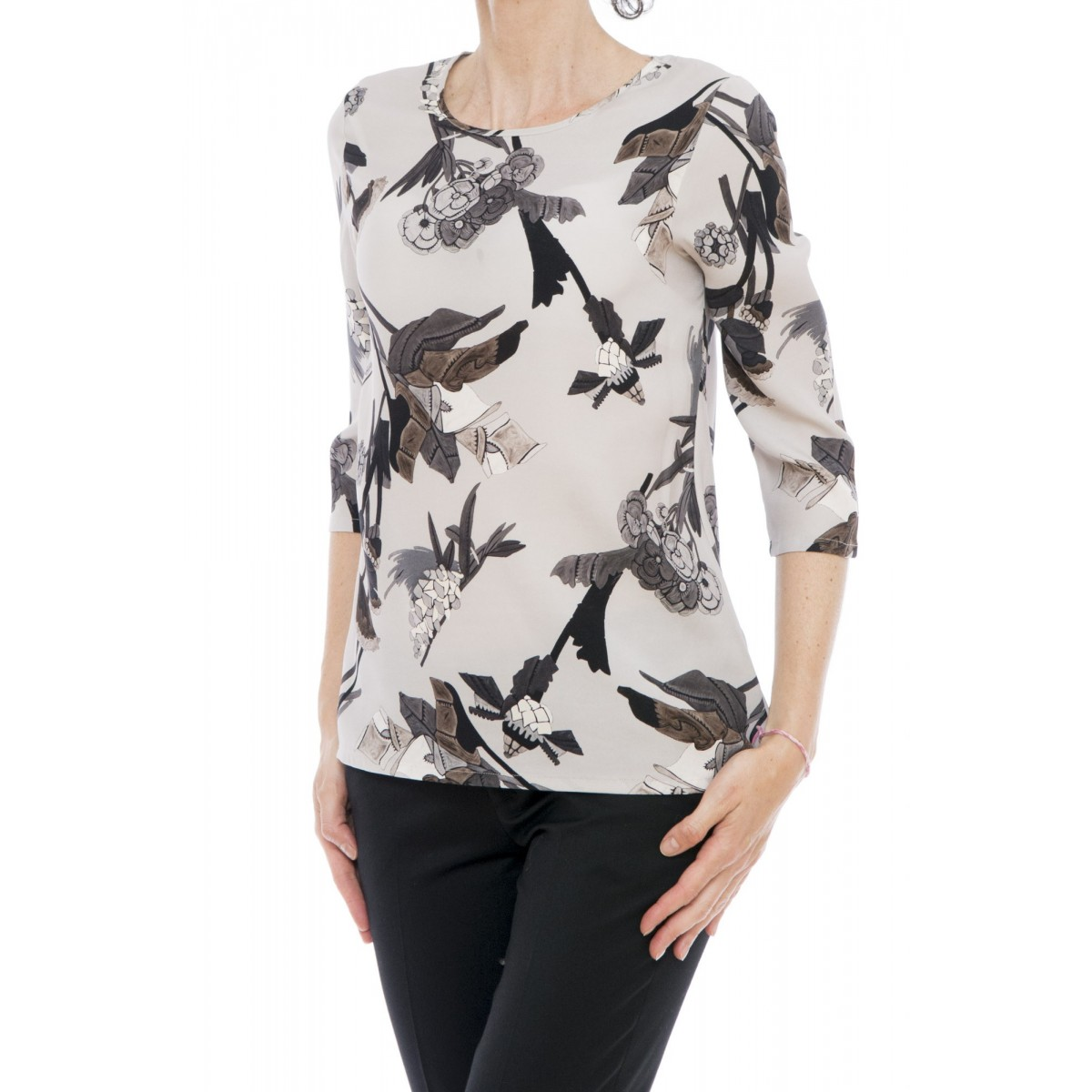 Camicia donna Kangra - 2565/90 camicia seta stampata