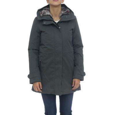 Piumino - D4033w twon9 cappotto twill effetto lana melange