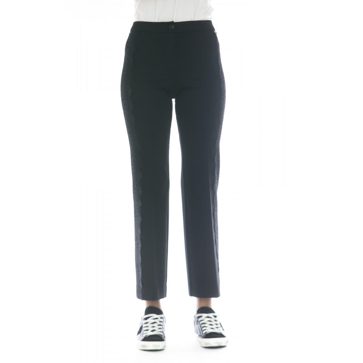 Pantalone donna - Tt2210 pantalone banda pizzo