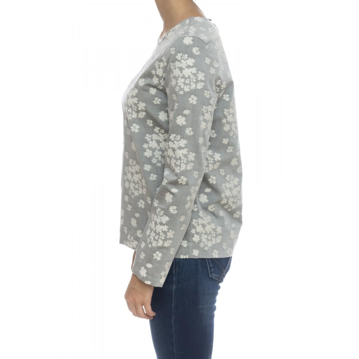 Camicia donna - 5301 55401 jaquard bicotone