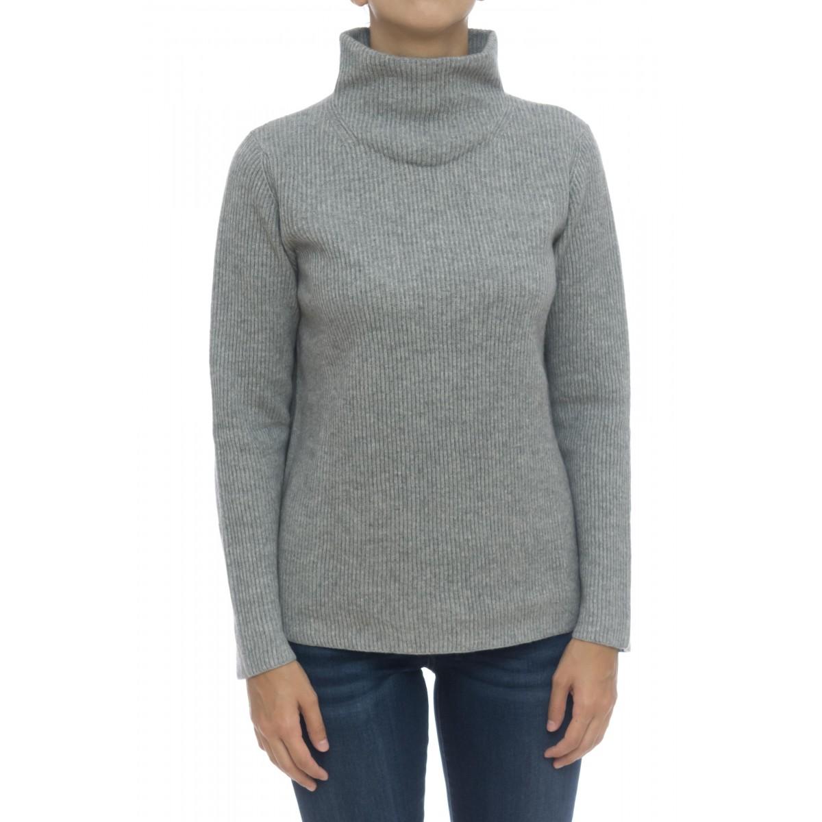 Maglieria - 8505/59 maglia collo alto costa inglese