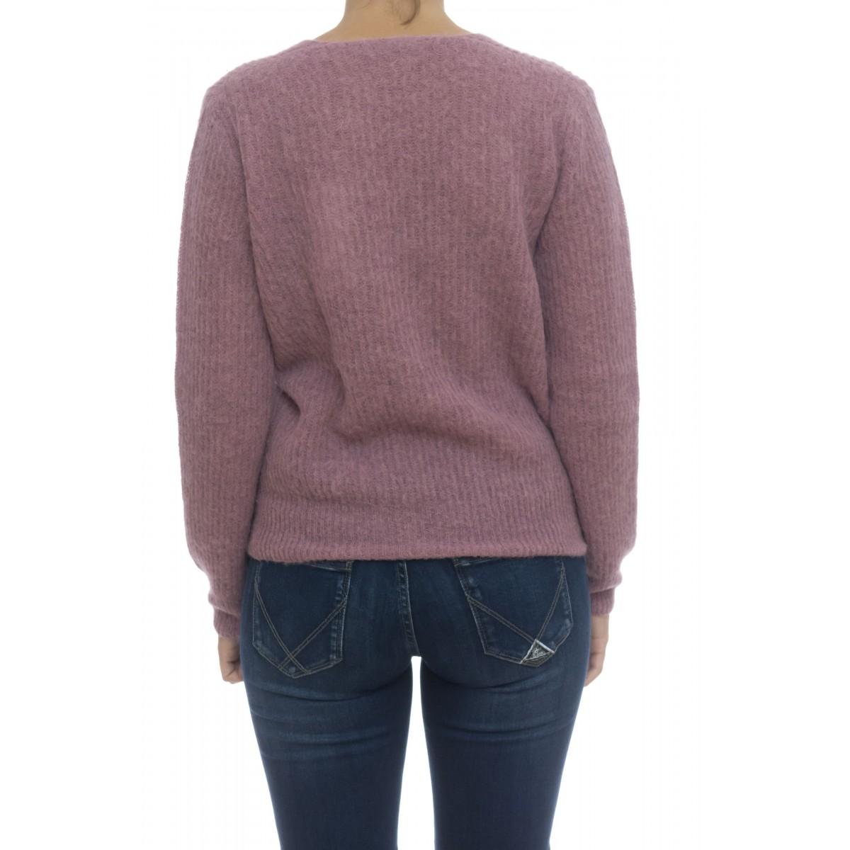 Maglieria - 8634/02 maglia coste inglese a v