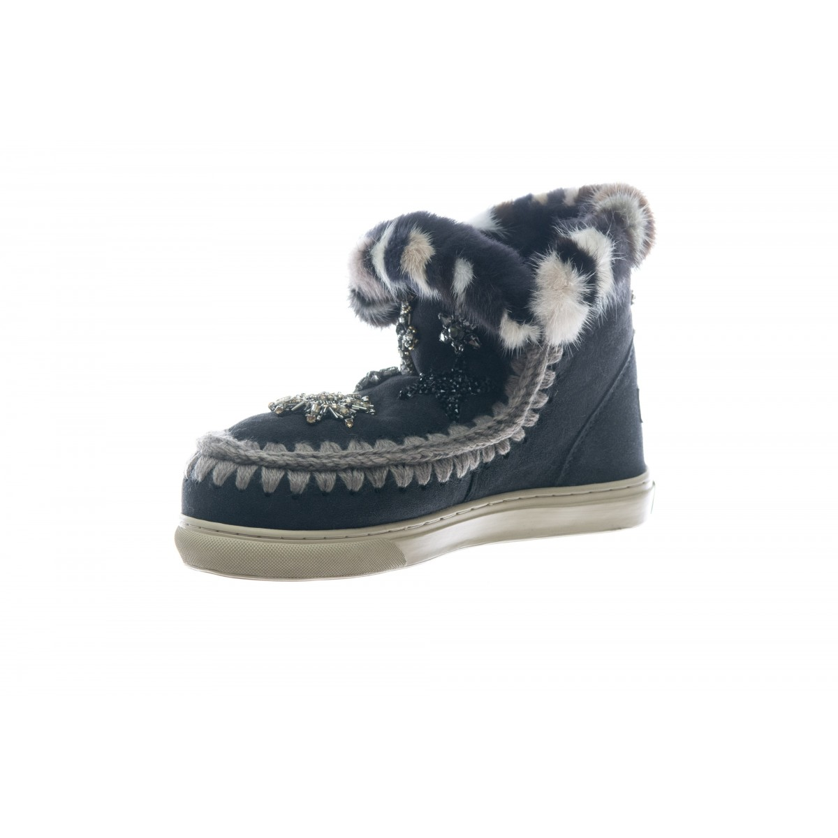 Scarpe - Mini sneaker star patch and fur