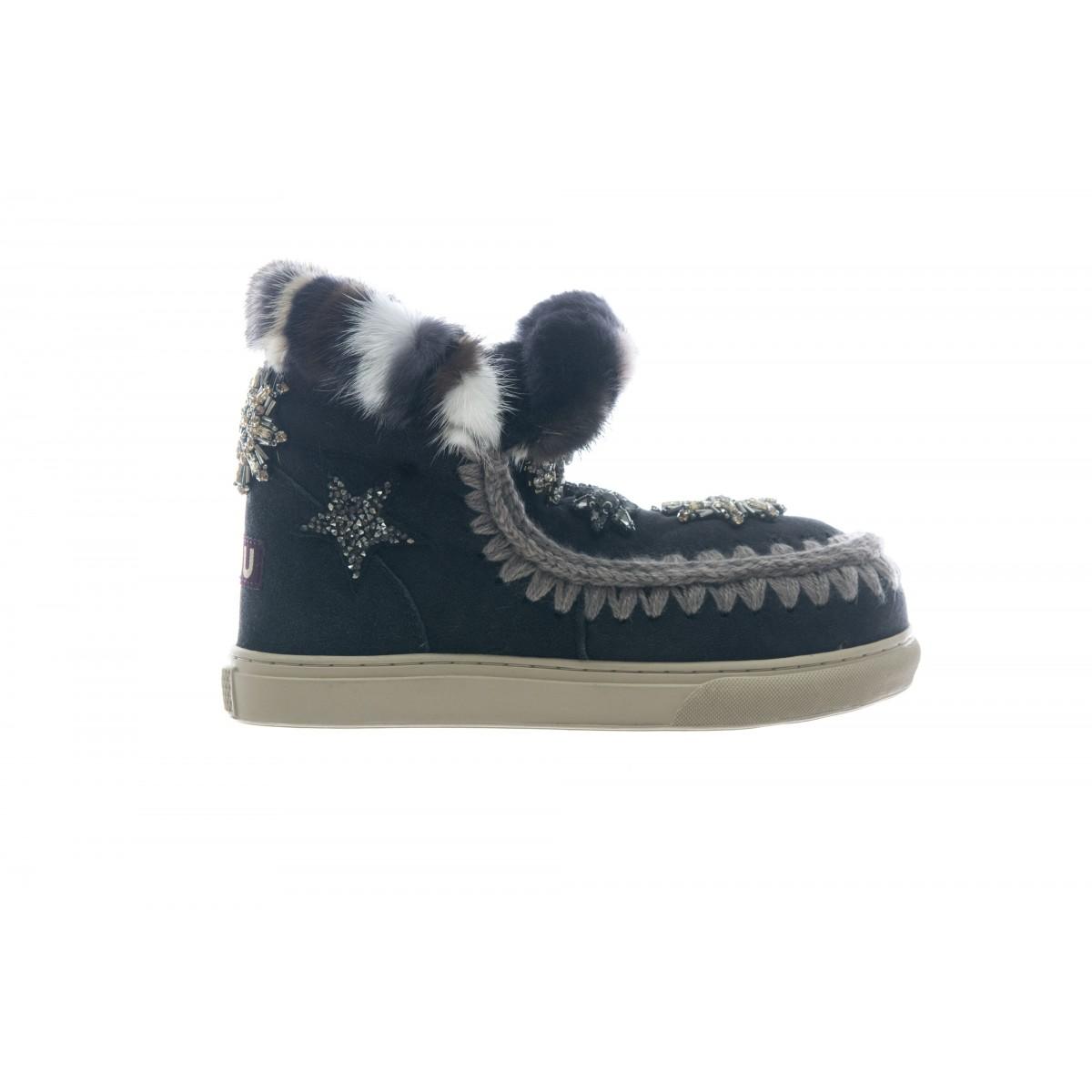 Scarpe - Mini sneaker star patch and fur