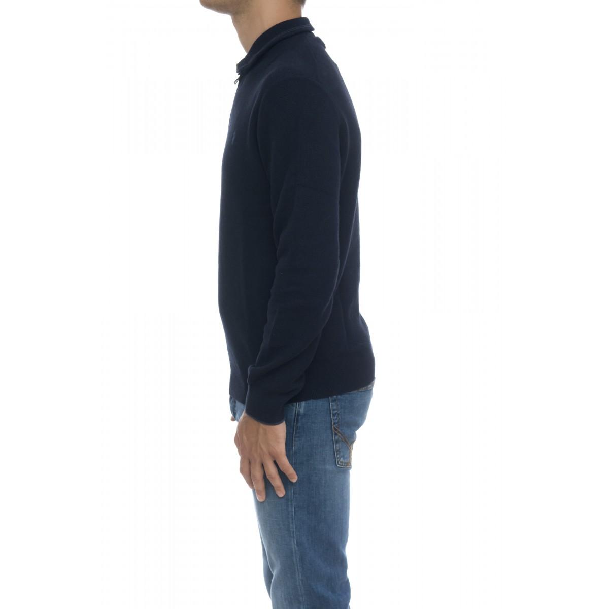 Maglia uomo - 701611 maglia zip cotone nido ape