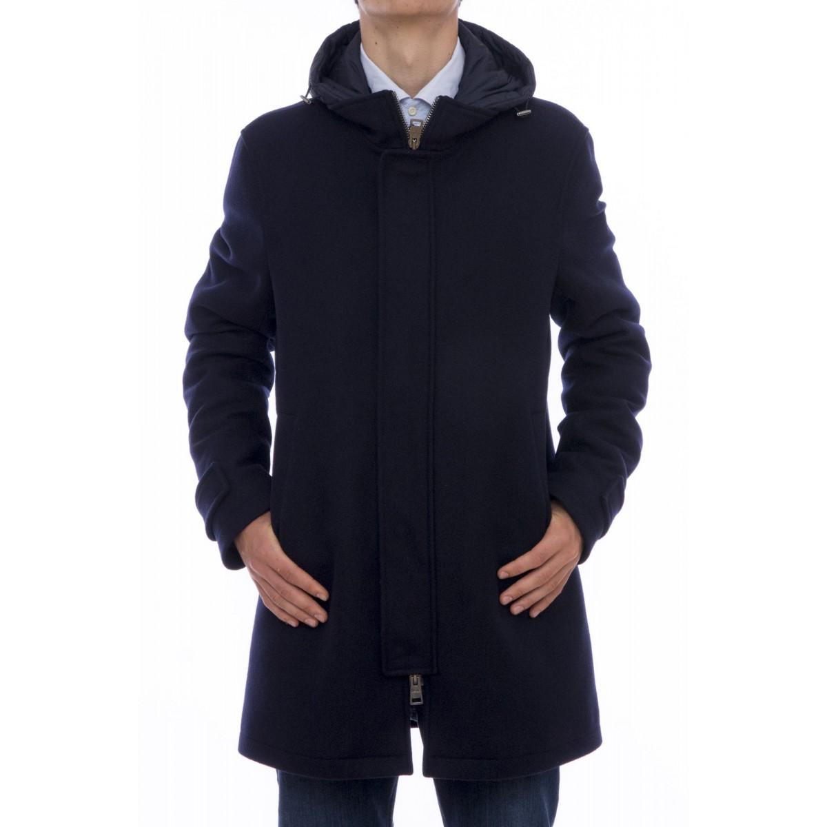 Piumino Herno - PI0332U 39601 cappotto lana diagonale + nylon chamonix