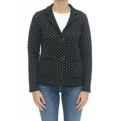 Giacca donna - 208 giacca effetto linea tratteggiata