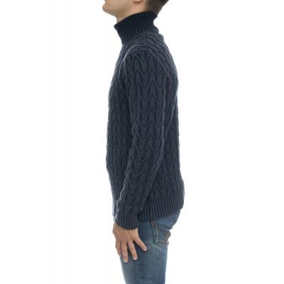 Maglia uomo - Cn2490 merinos lavato collo alto