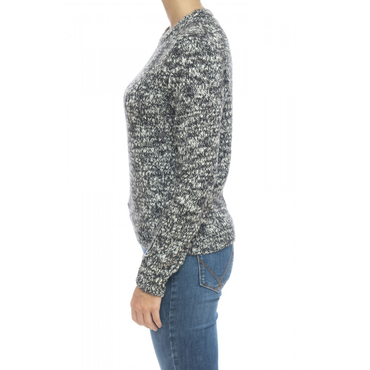 Maglieria - K29230 maglia mouline giro