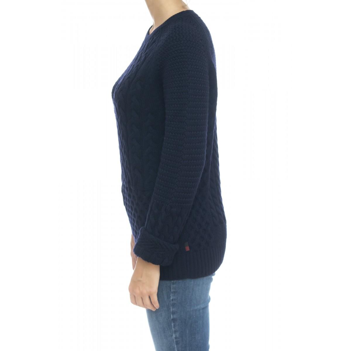 Maglieria - Wwmag1801 maglia treccia 100% merinos