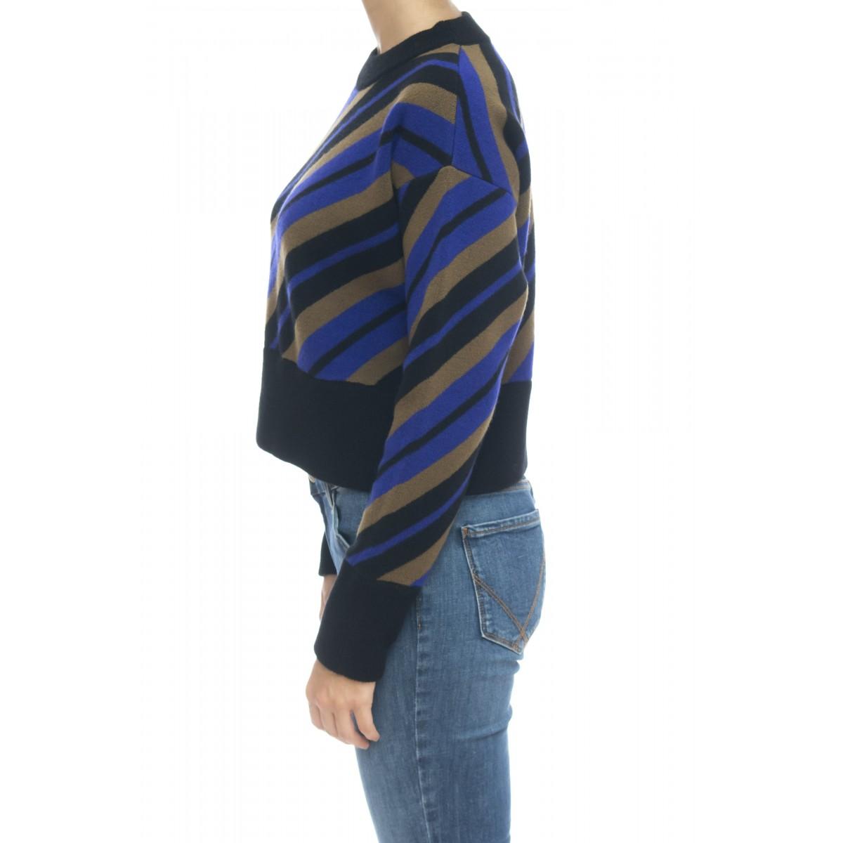 Maglieria - J1079 maglia disegno diagonale