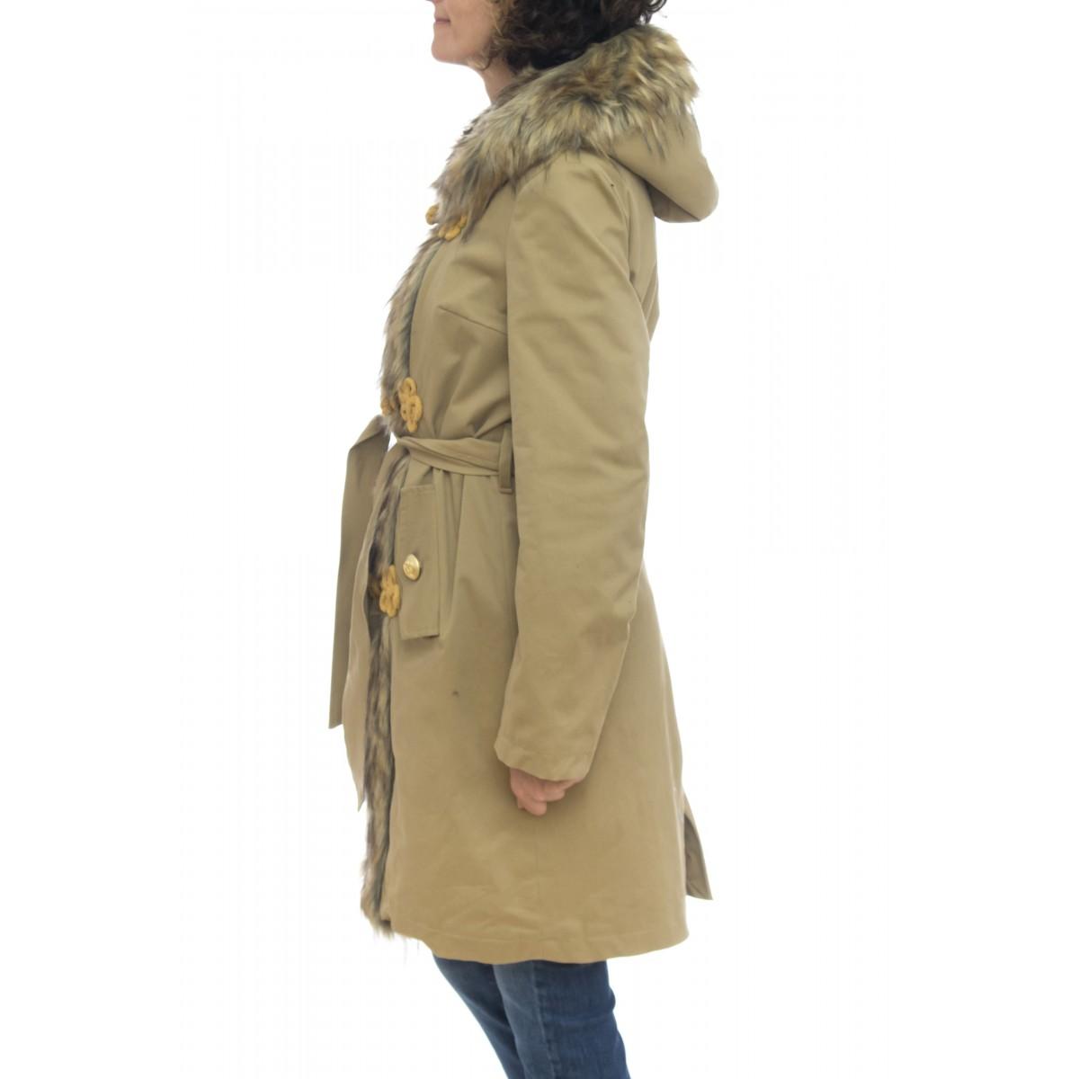 Cappotto - Pk05 parka con pelo e interno pile ricciolo