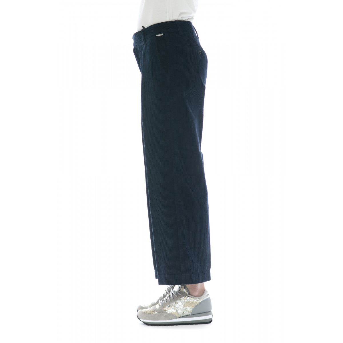 Pantalone donna - Lais cut vellutto 500 righe