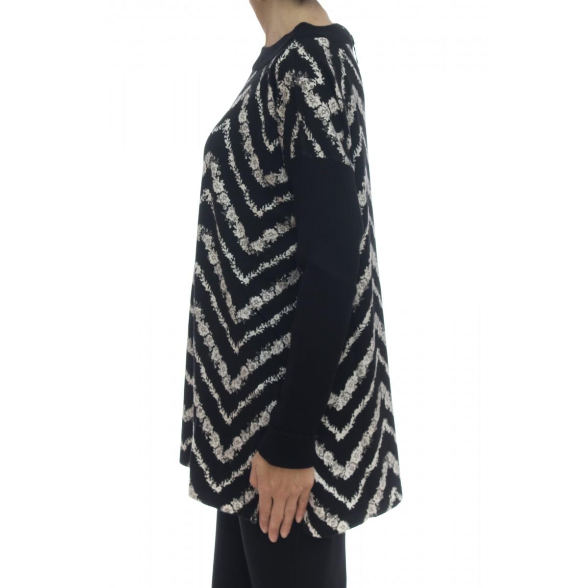 Maglieria - 3367 maglia lunga stampata