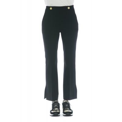 Pantalone donna - J4000 pantalone spacco bottone vita