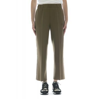 Pantalone donna - J4008 pantalone elastico banda laterale