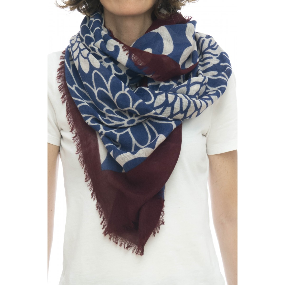 Sciarpa - Ortensia 4563   90 x 200 , 93% lana e 7% seta