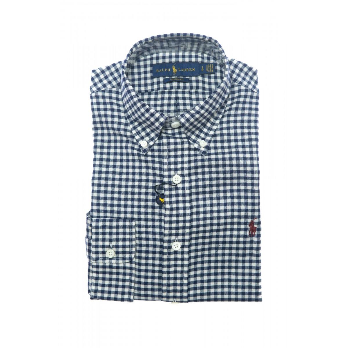 Camicia uomo - 767418 001 quadro flanella custom