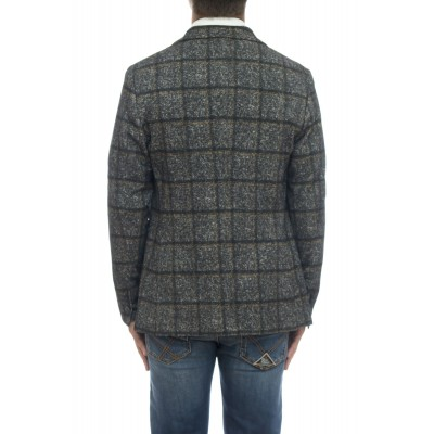 Giacca uomo - CN2417 giacca quadro stampa jersey strech cashmeire touc