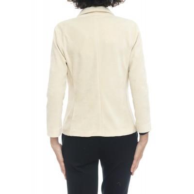 Giacca donna - Fd1389 giacca cortta velluto mono boyyone