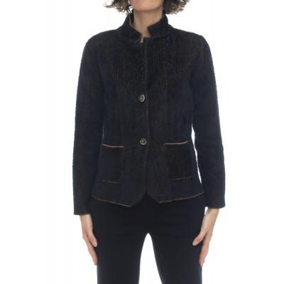 Giacca donna - 0216 giacchina effetto pelliccia