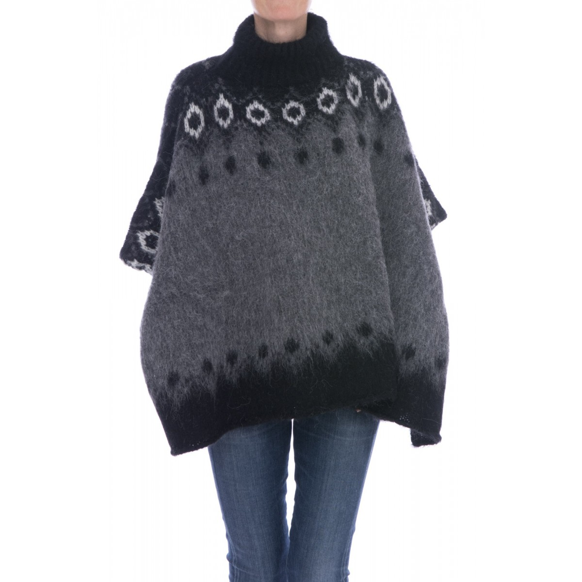Cappotto Kangra - 2800/97 poncho alpaca stampato