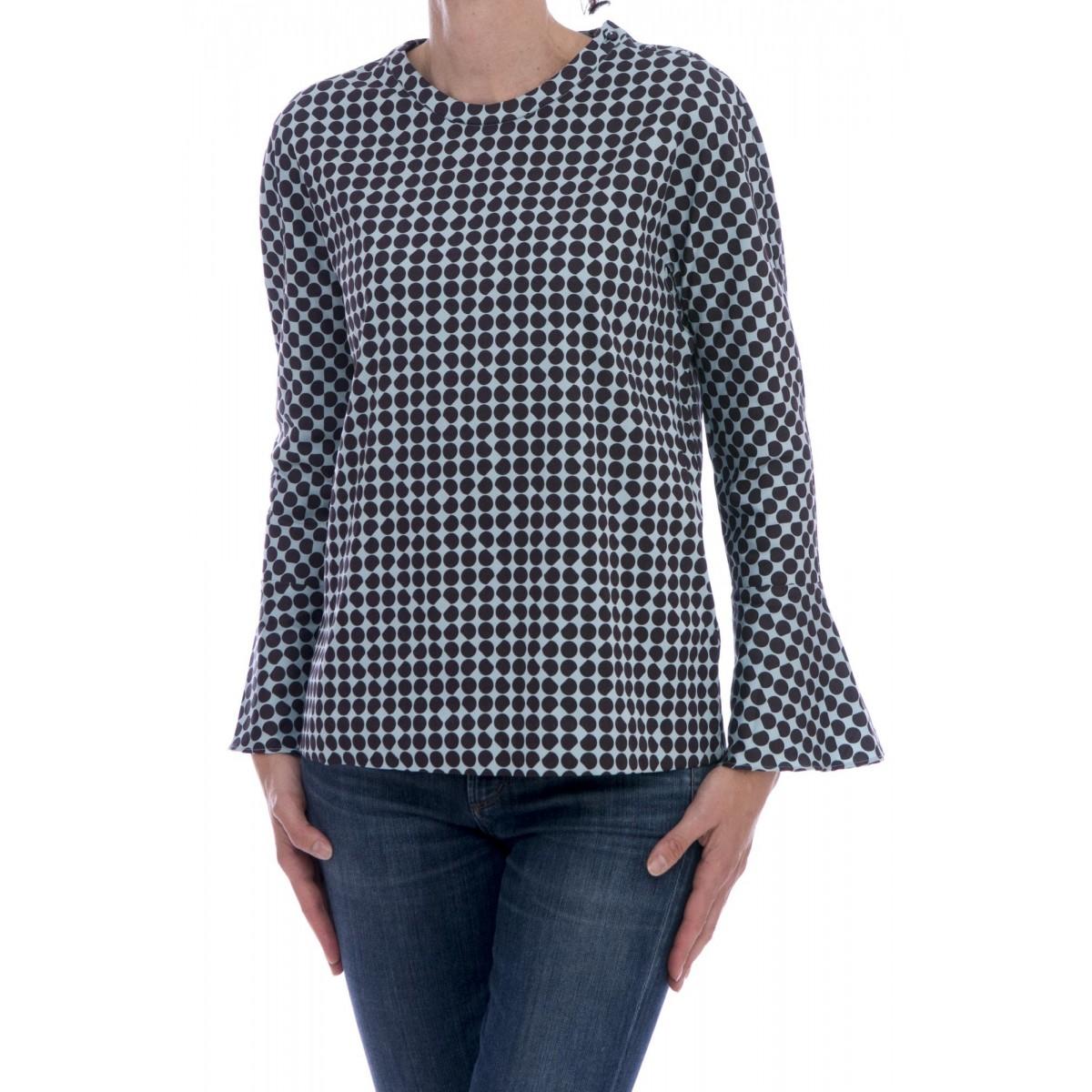 Camicia donna Archivio '67 - Rqe zhy camicia pois girocollo strech