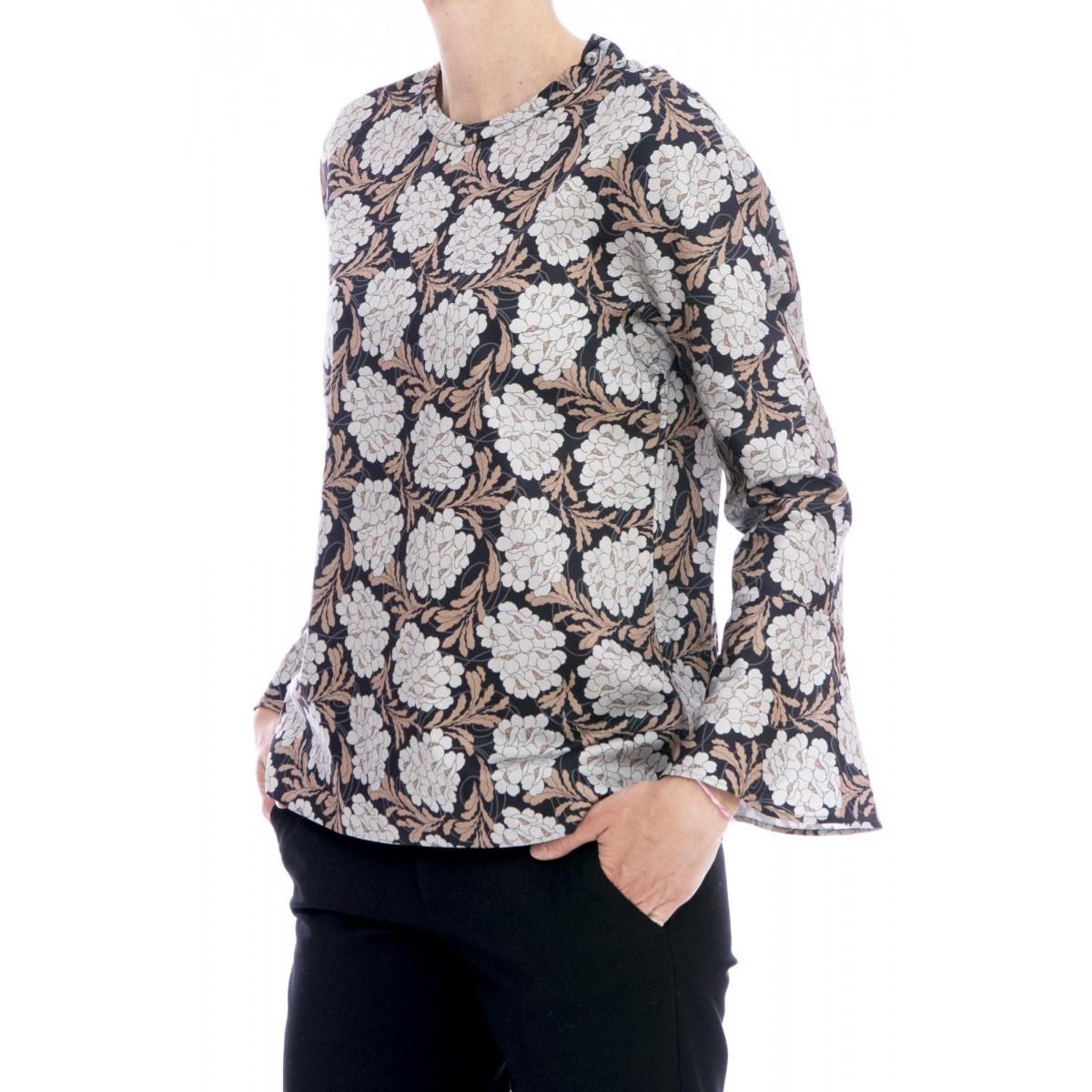 Camicia donna Archivio '67 - Rqe zd0 camicia girocollo stampa