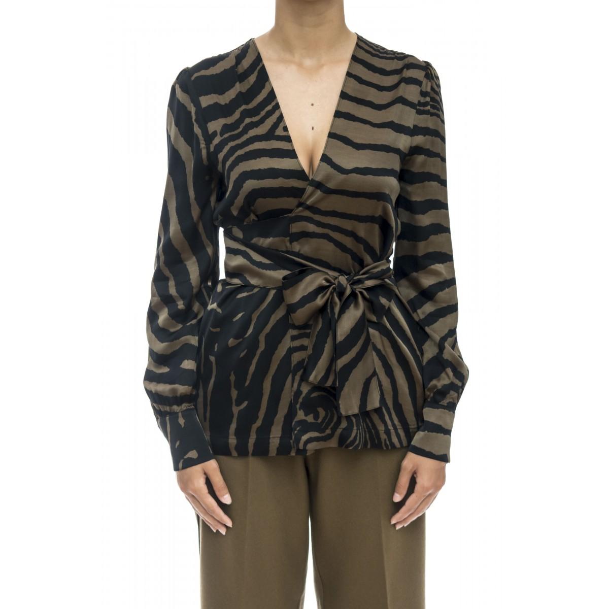 Camicia donna - J2021/z  camicia incrociata zebra