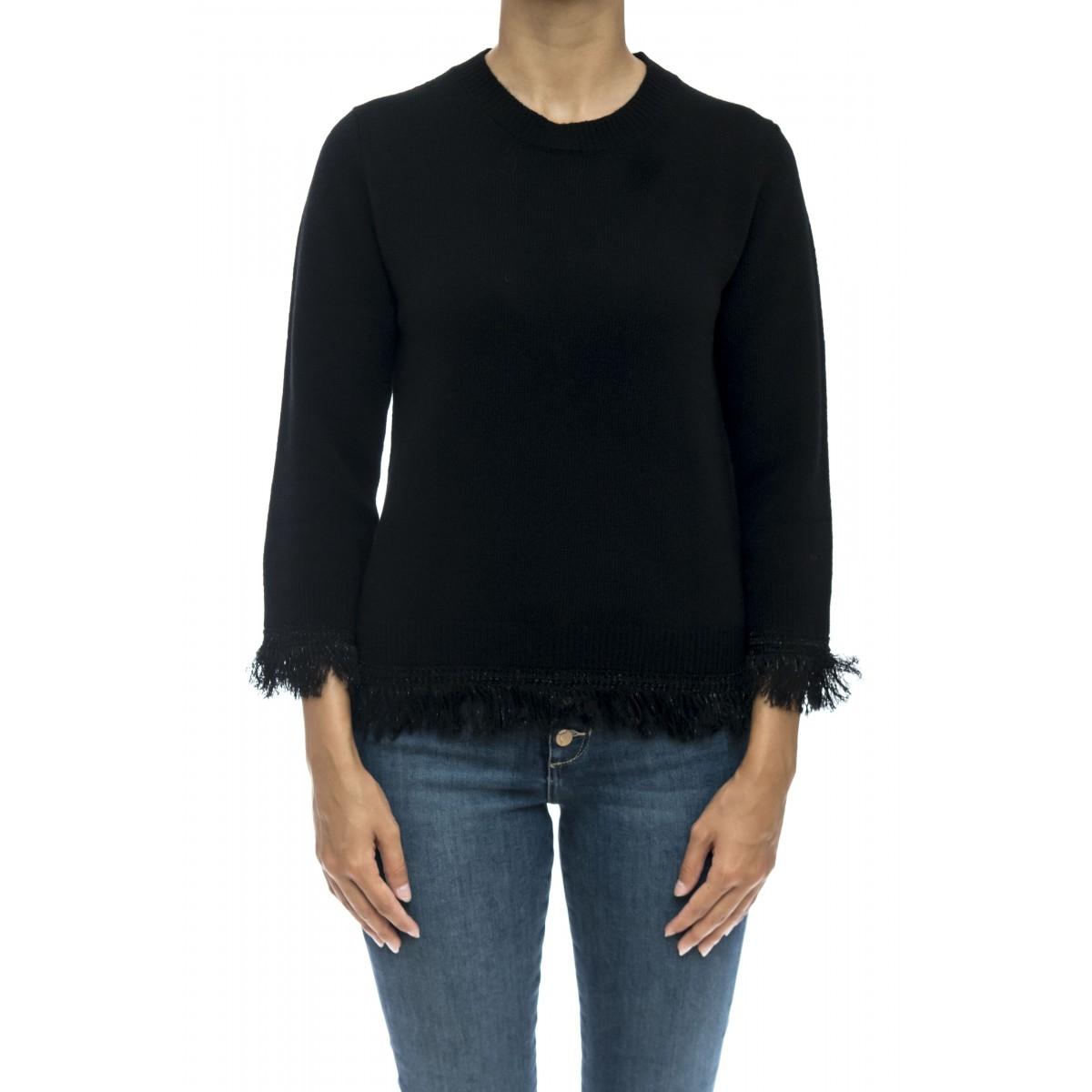 Maglieria - J1103 maglia gir frange