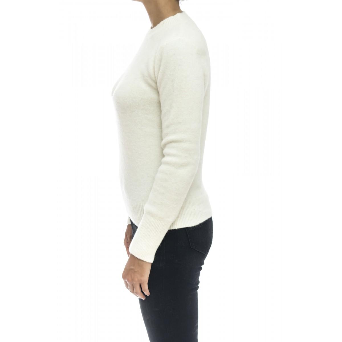 Maglieria - J1048 maglia giro garzata