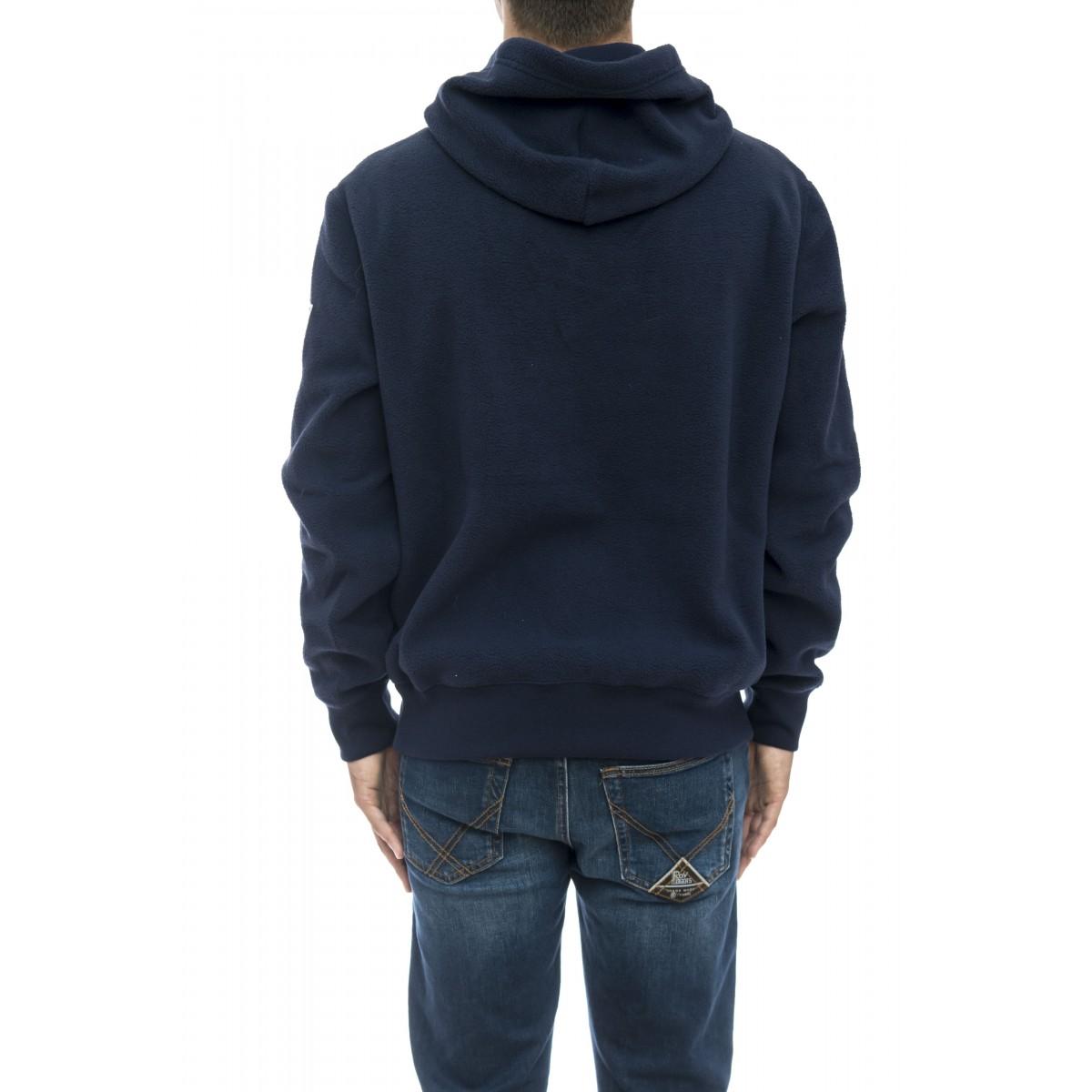 Felpa uomo - 696327 pile con cappuccio logo