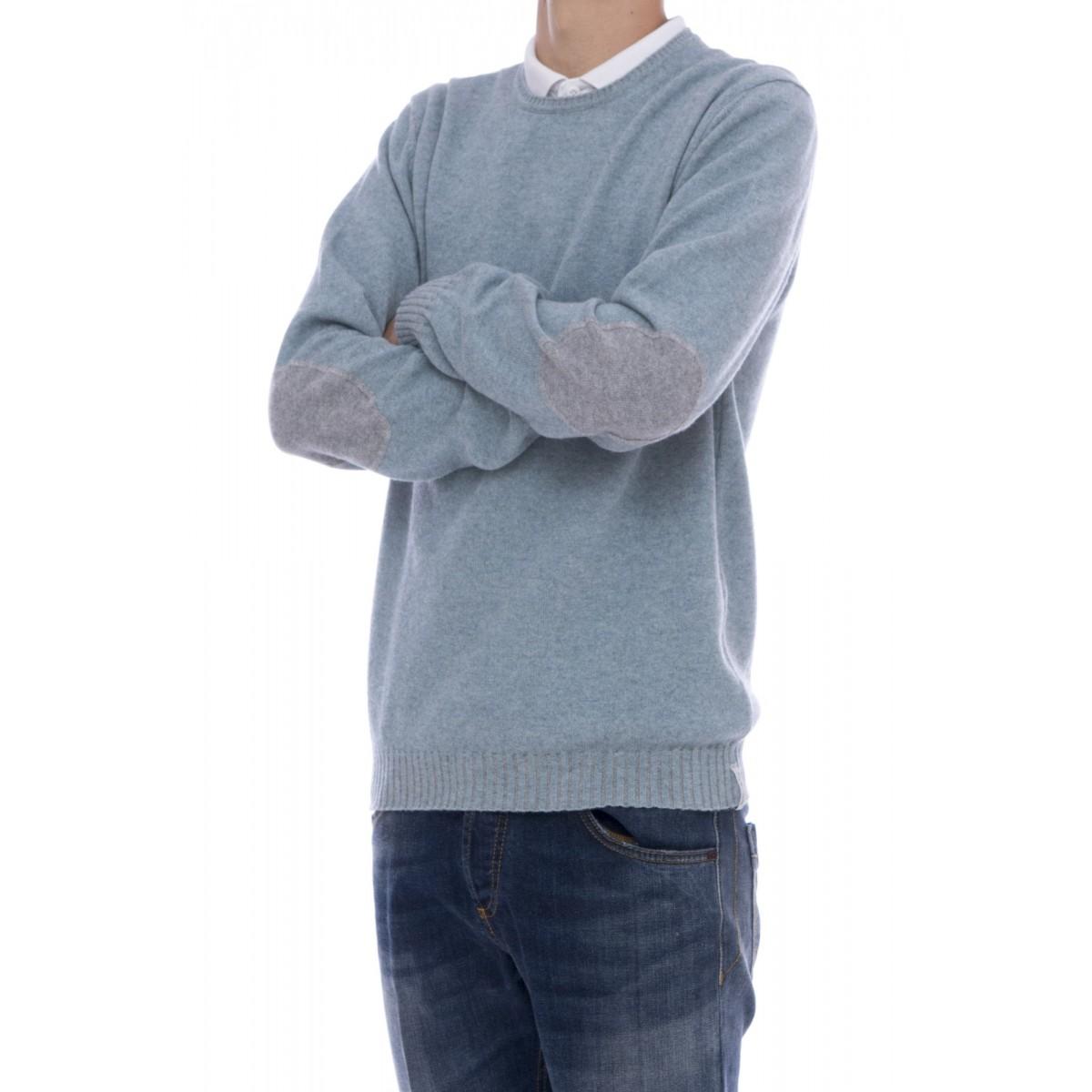 Maglia uomo Jurta - Z103 maglia reversibile con toppa : cashmeire-lana-seta-cotone