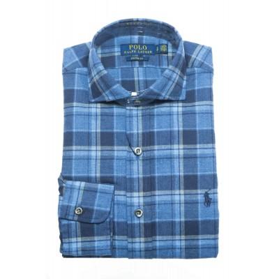 Camicia uomo - 767419 quadro flanella custom