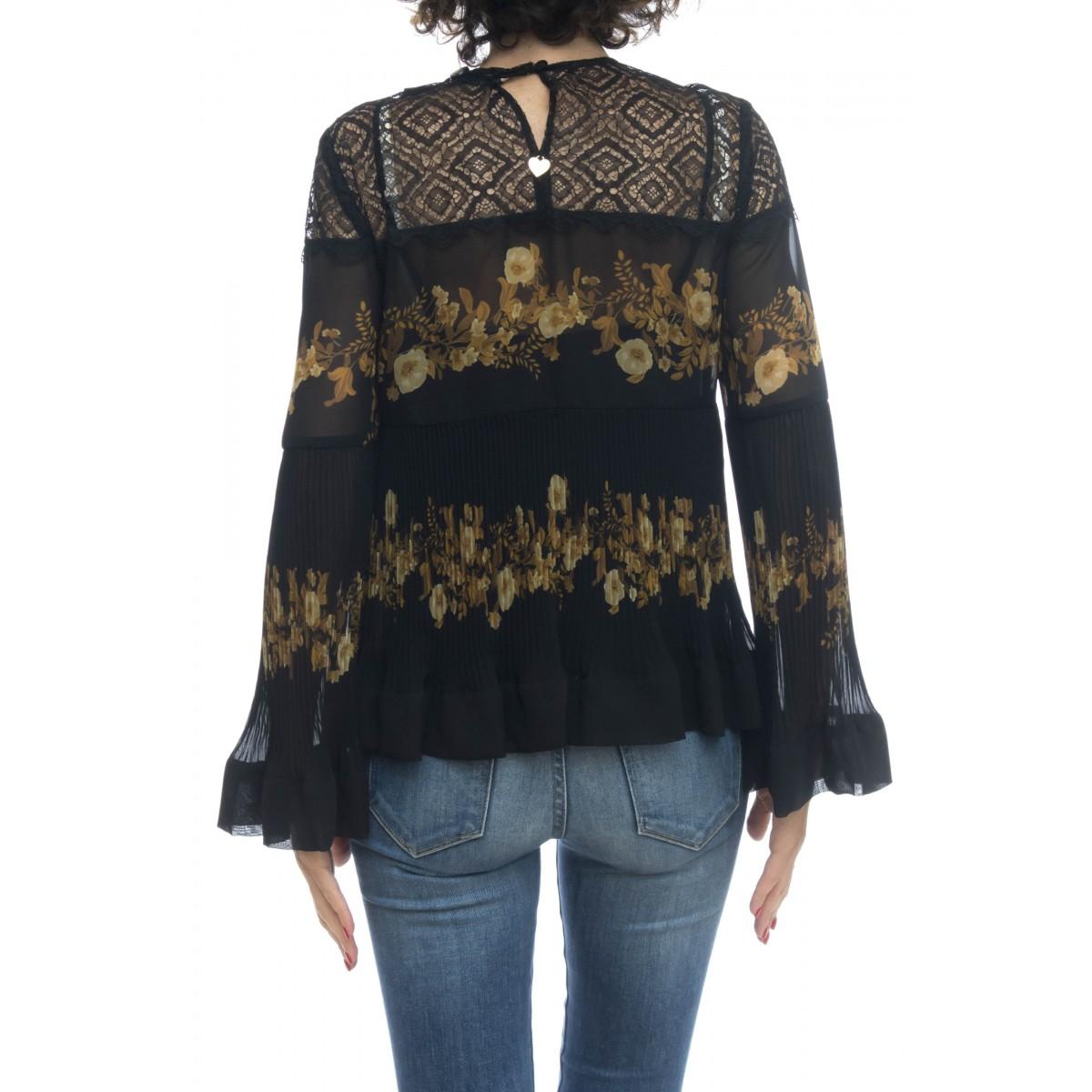Camicia donna - Tt2540 camicia stampa fiori