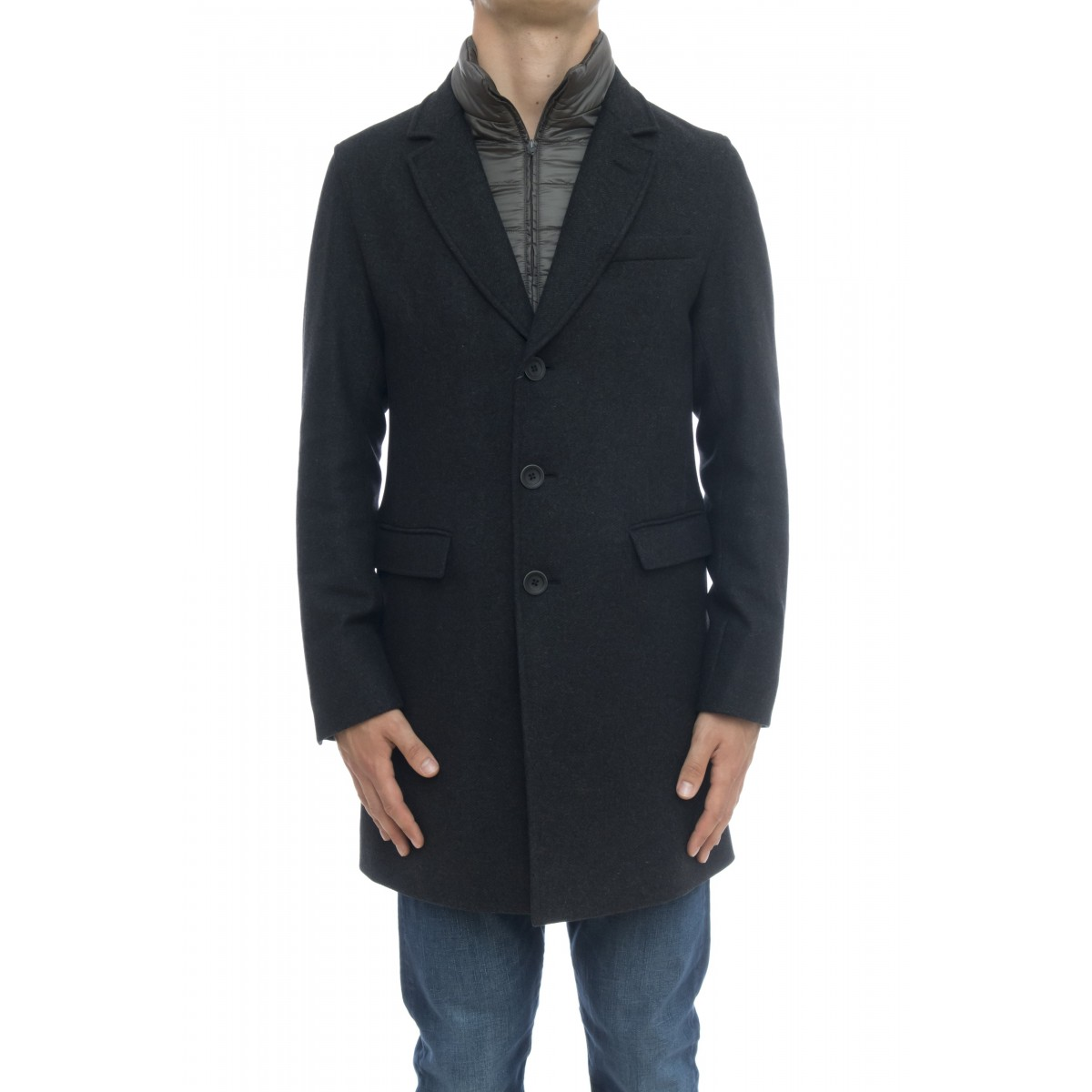Cappotto - Ca0045u 39601 cappotto lana diagonale