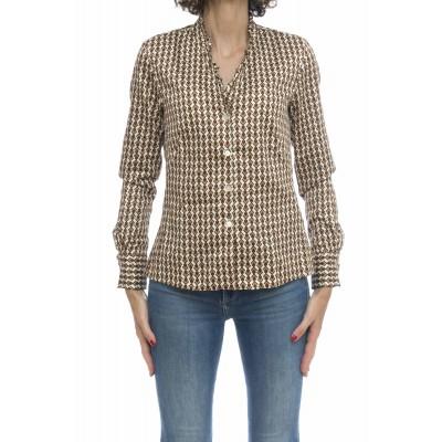 Camicia donna - Pj2 z6t stampa microfantasia optical