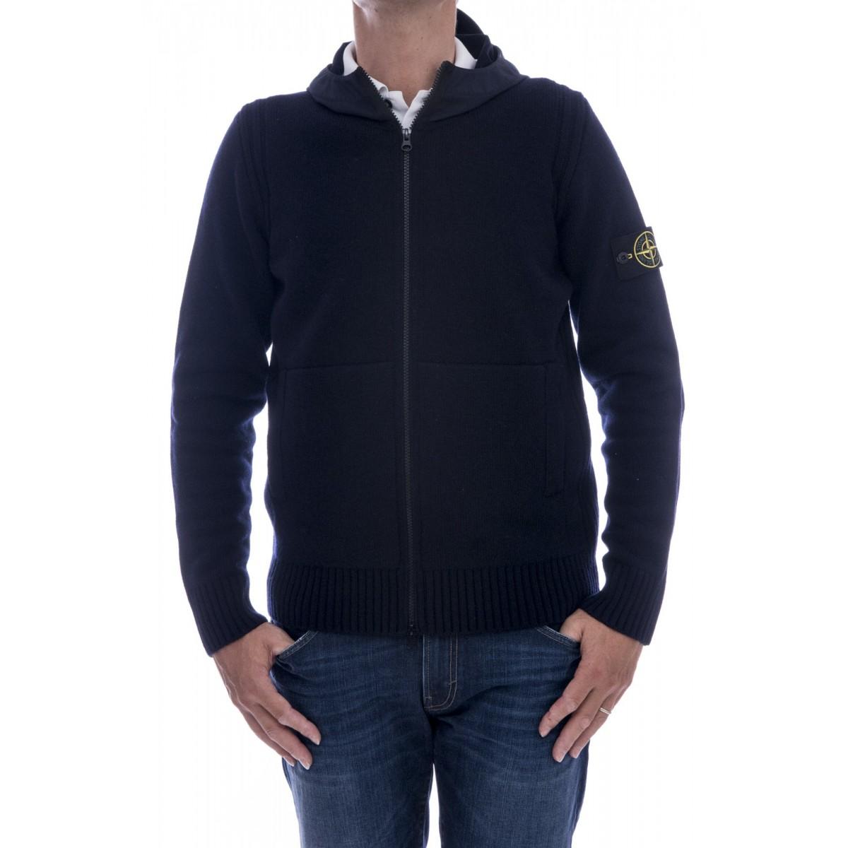 Maglia uomo Stone island - 550a3 maglia aperta con cappuccio nylon