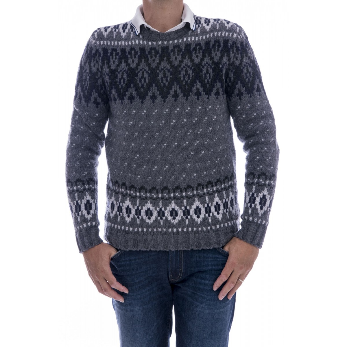 Piumino Woolrich - Wo mag1683 maglia norvegese made in italy