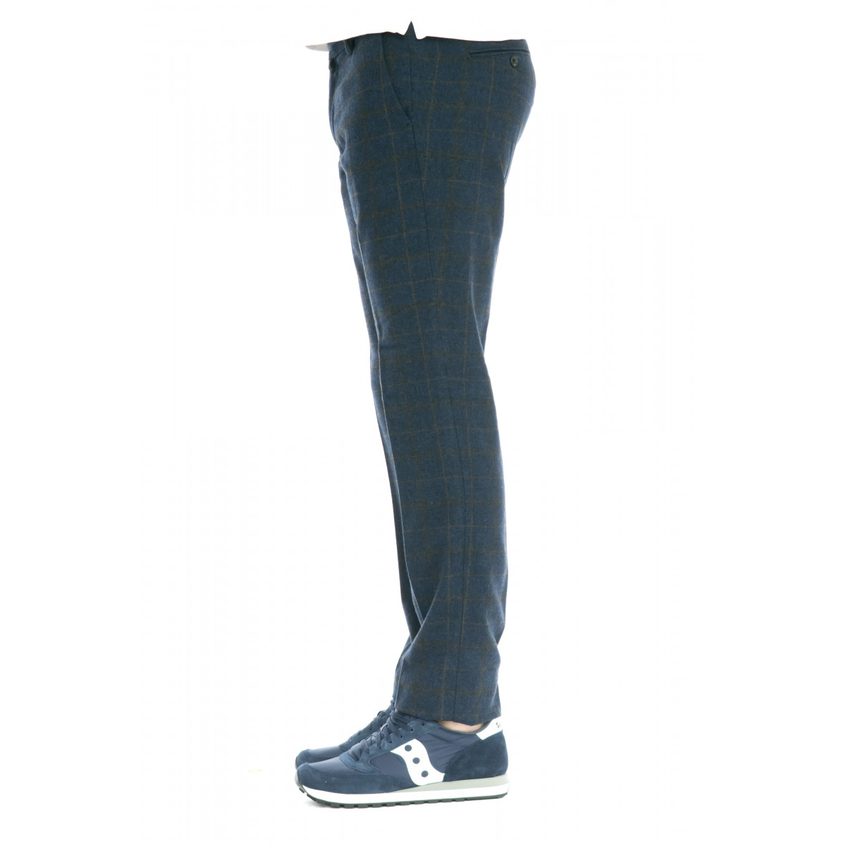 Pantalone uomo - Len 4738 check lana stampata