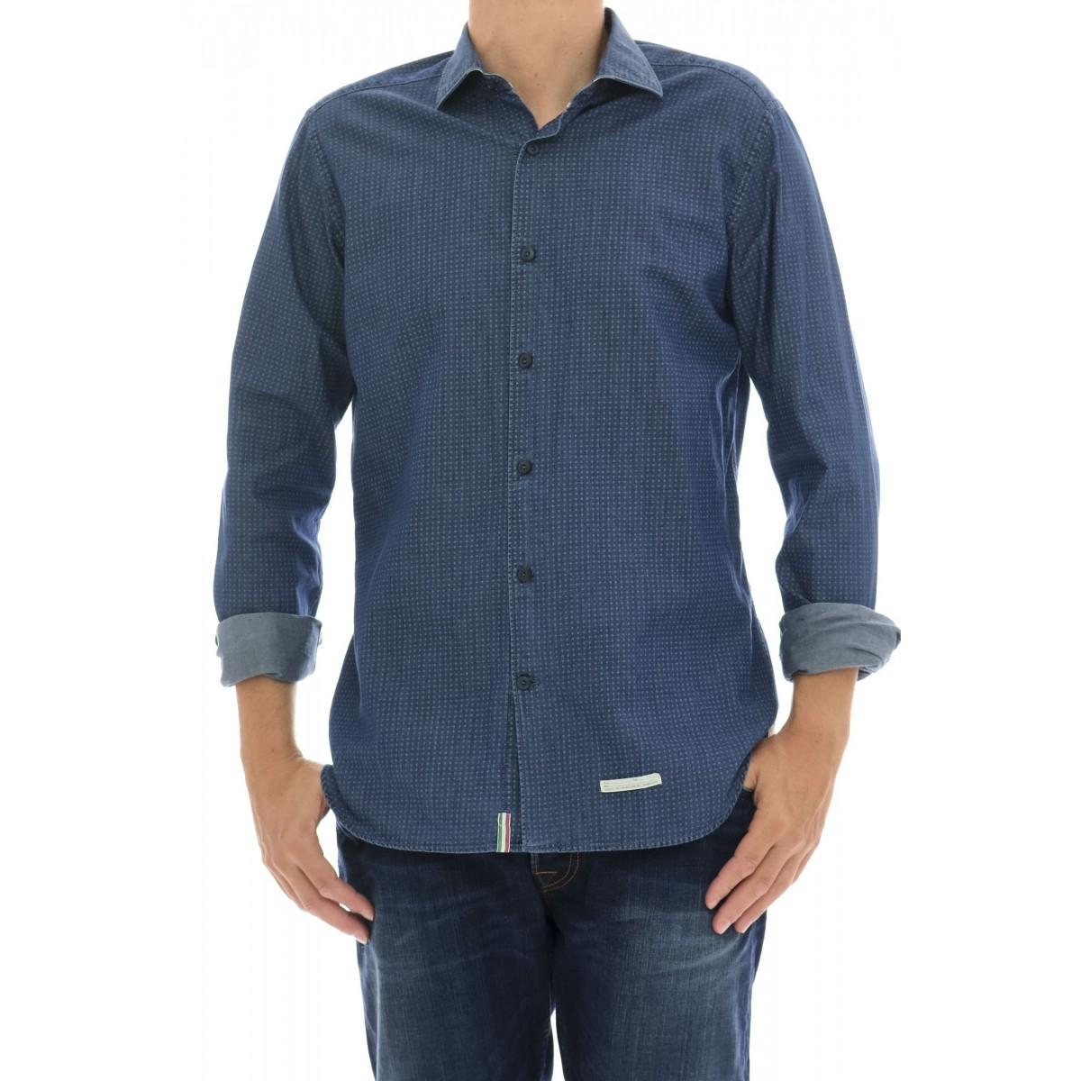 Camicia uomo Tintoria mattei 954 - Tvp nm2 denim