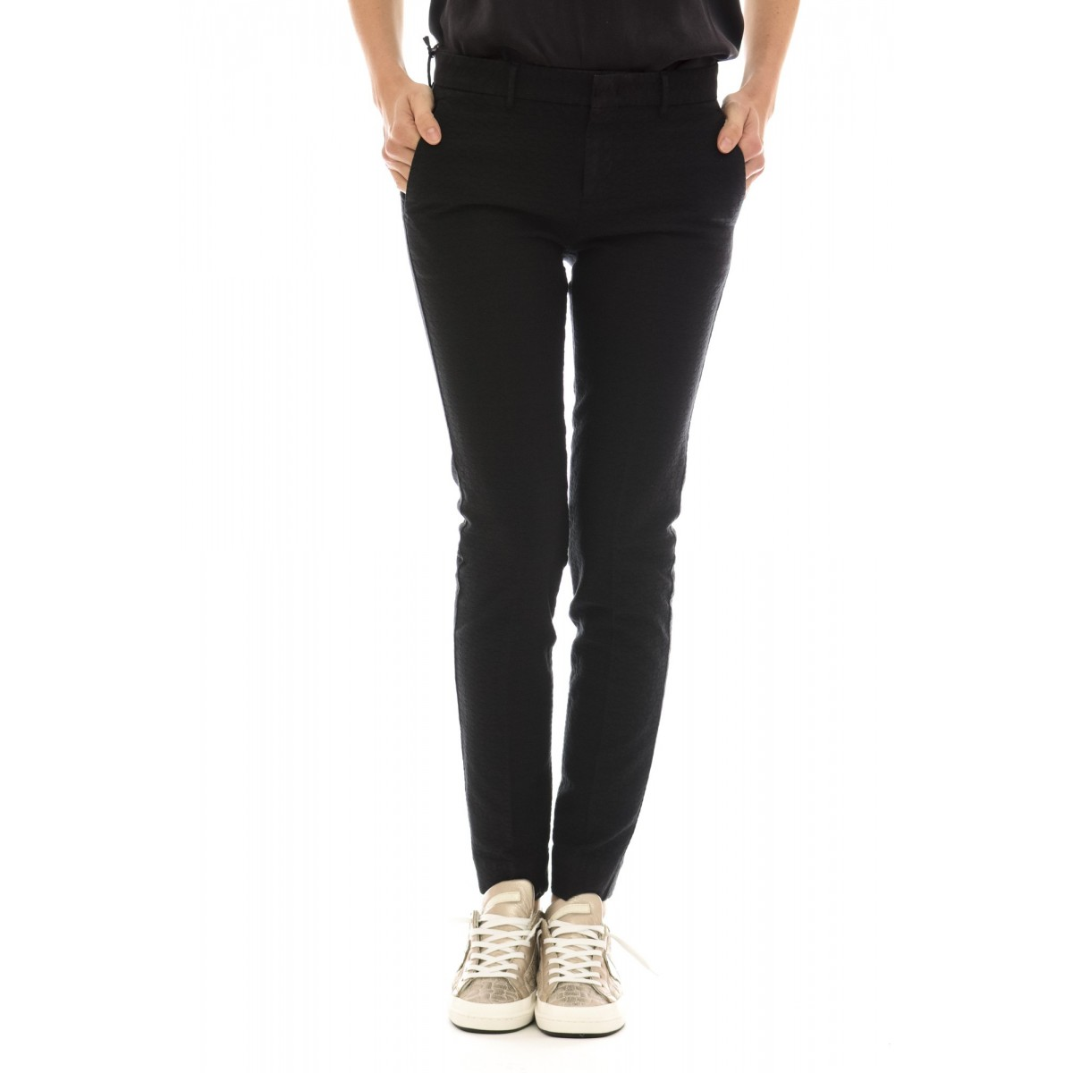 Pantalone PT0W Donna - Cdvtny ka01 cotone operato