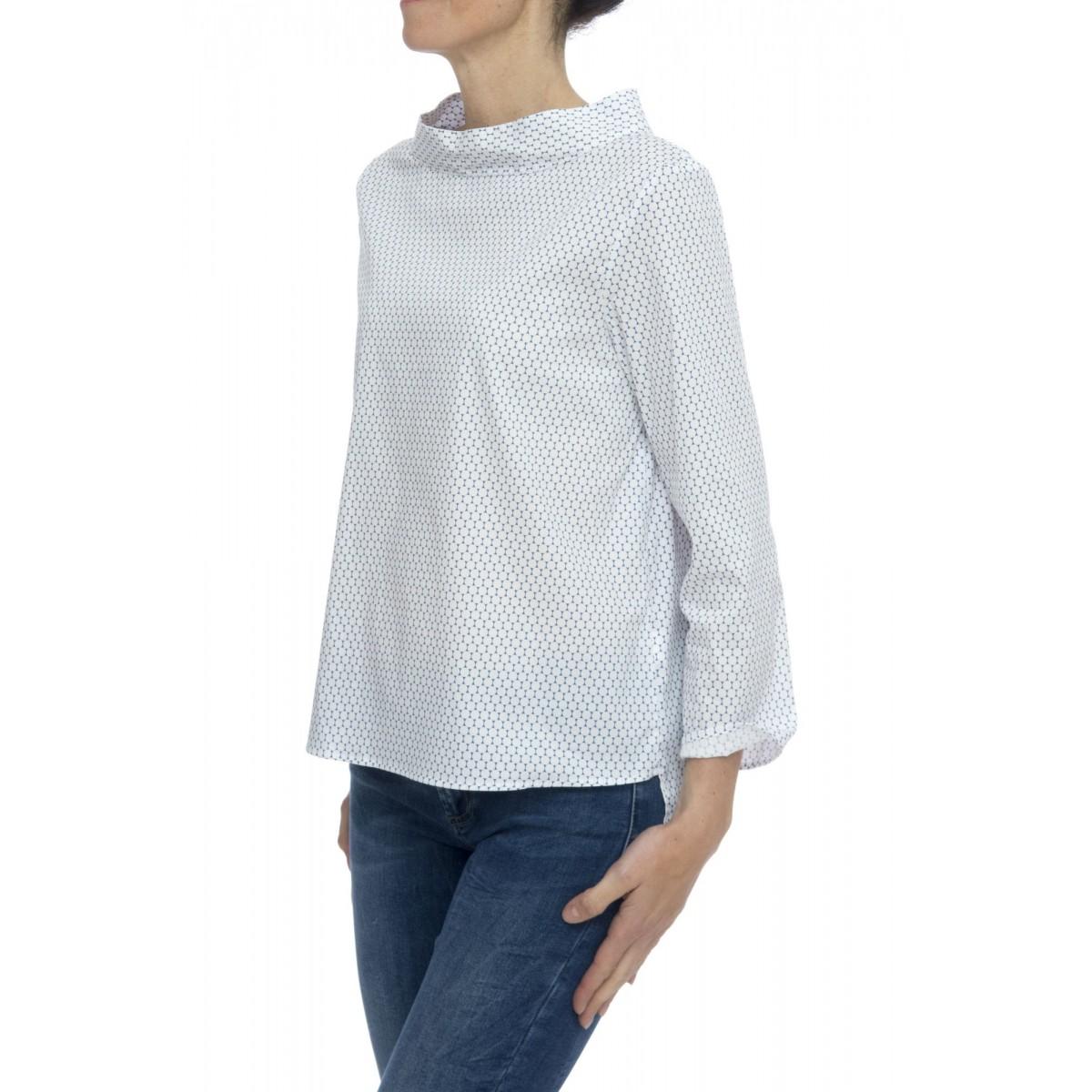 Camicia donna - Clara 85526 camicia stampa pop strech