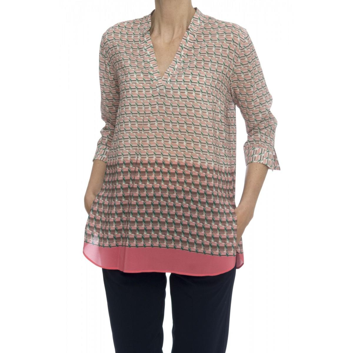 Camicia donna - R2c znv camicia seta stampa 3-4